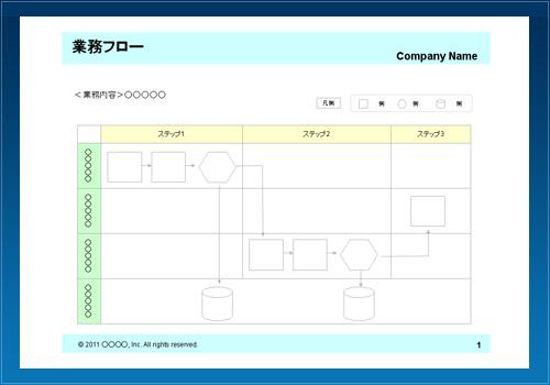 業務フロー06(ステップ別・青)