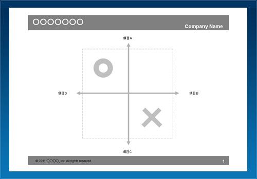座標図05(マルバツ)
